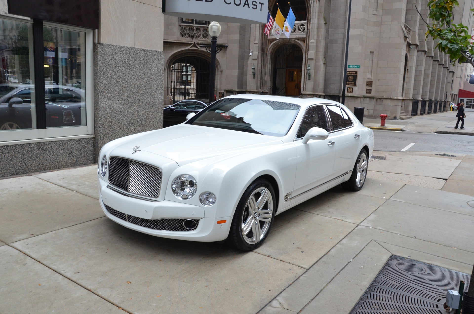 rental driver luxury diamond car white bentley with chicago companies in