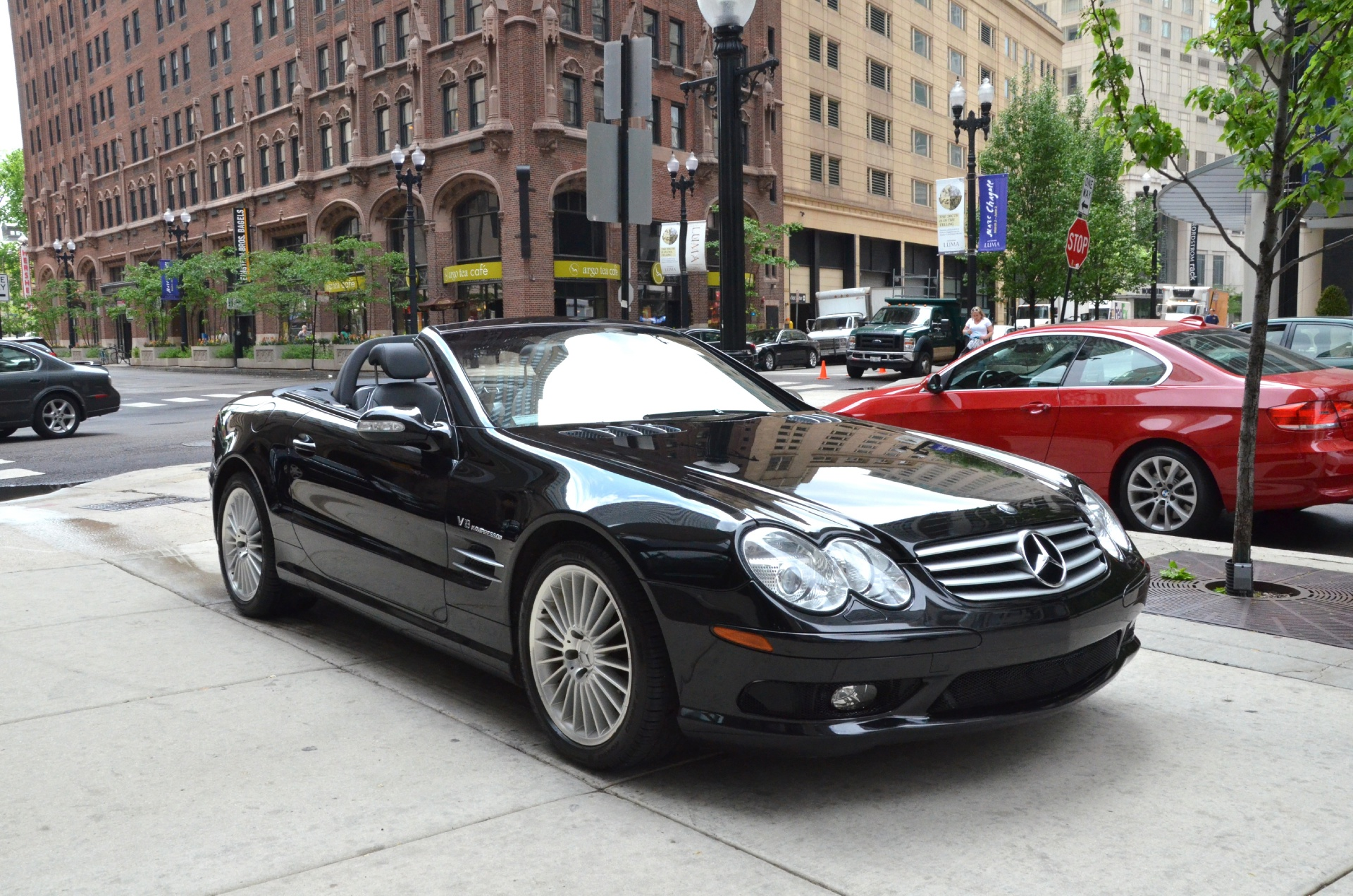2003 mercedes benz sl class sl55 amg stock gc1221 for sale near chicago il il mercedes benz. Black Bedroom Furniture Sets. Home Design Ideas