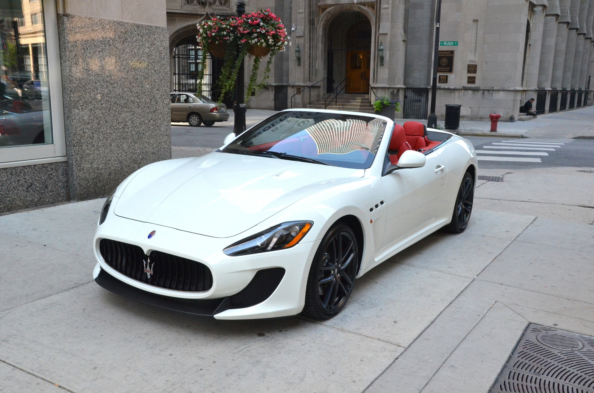 2014 maserati granturismo mc convertible stock m152 s for White maserati red interior