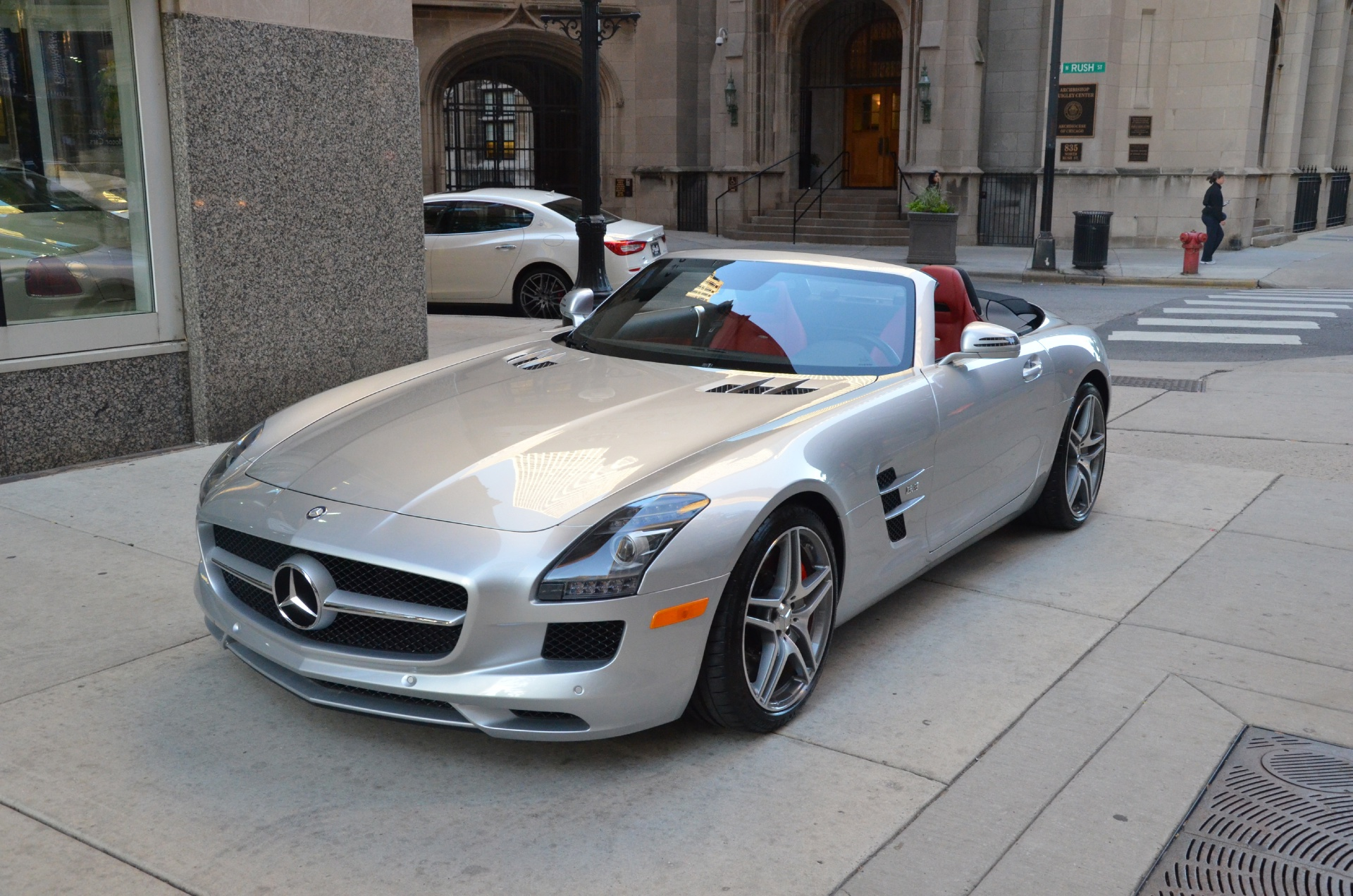 2012 mercedes benz sls class sls amg stock gc1245 for for Mercedes benz dealerships in chicago area