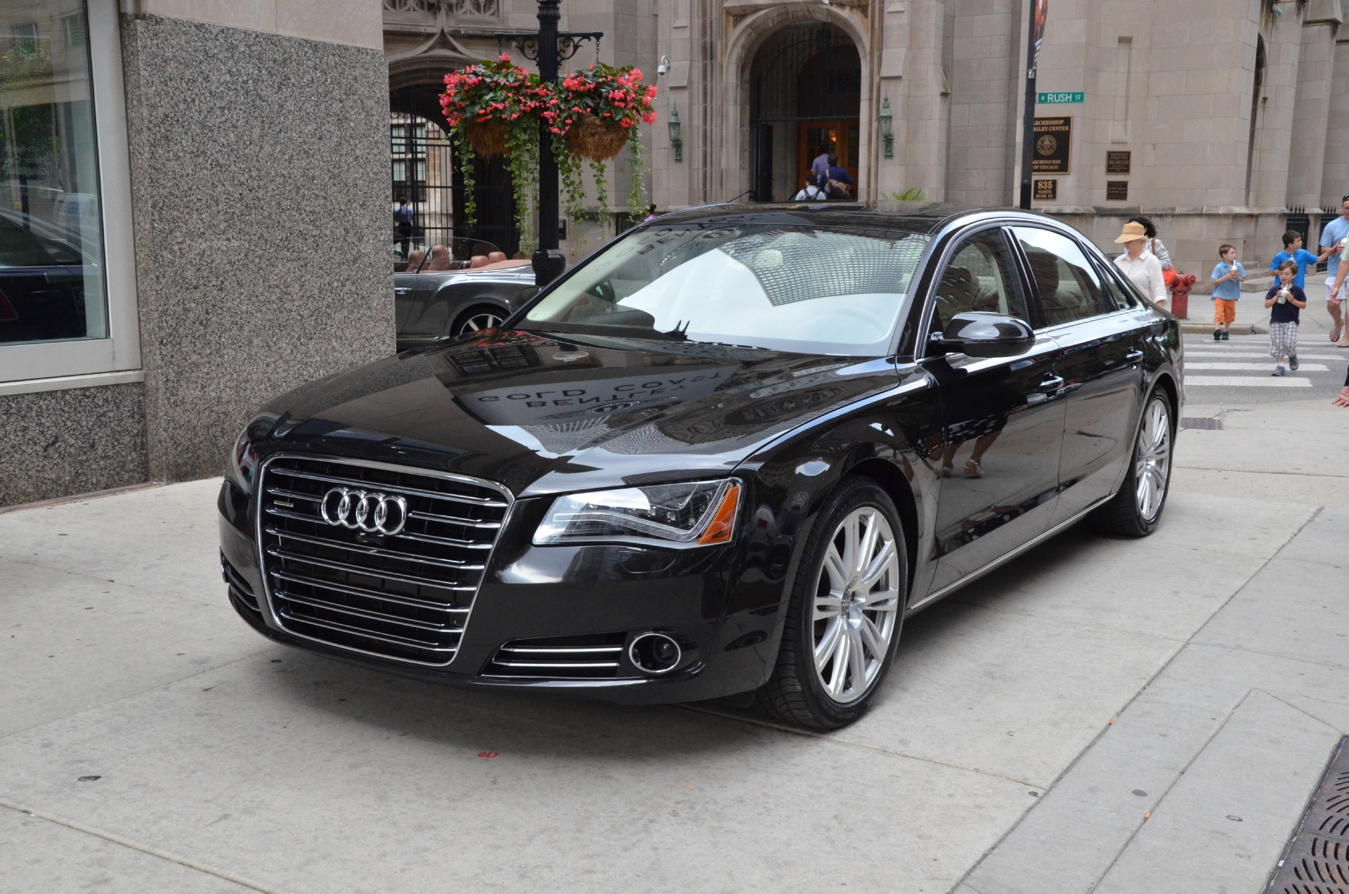 2014 audi a8 4 0t lwb quattro stock gc1381a for sale near chicago il il audi dealer. Black Bedroom Furniture Sets. Home Design Ideas