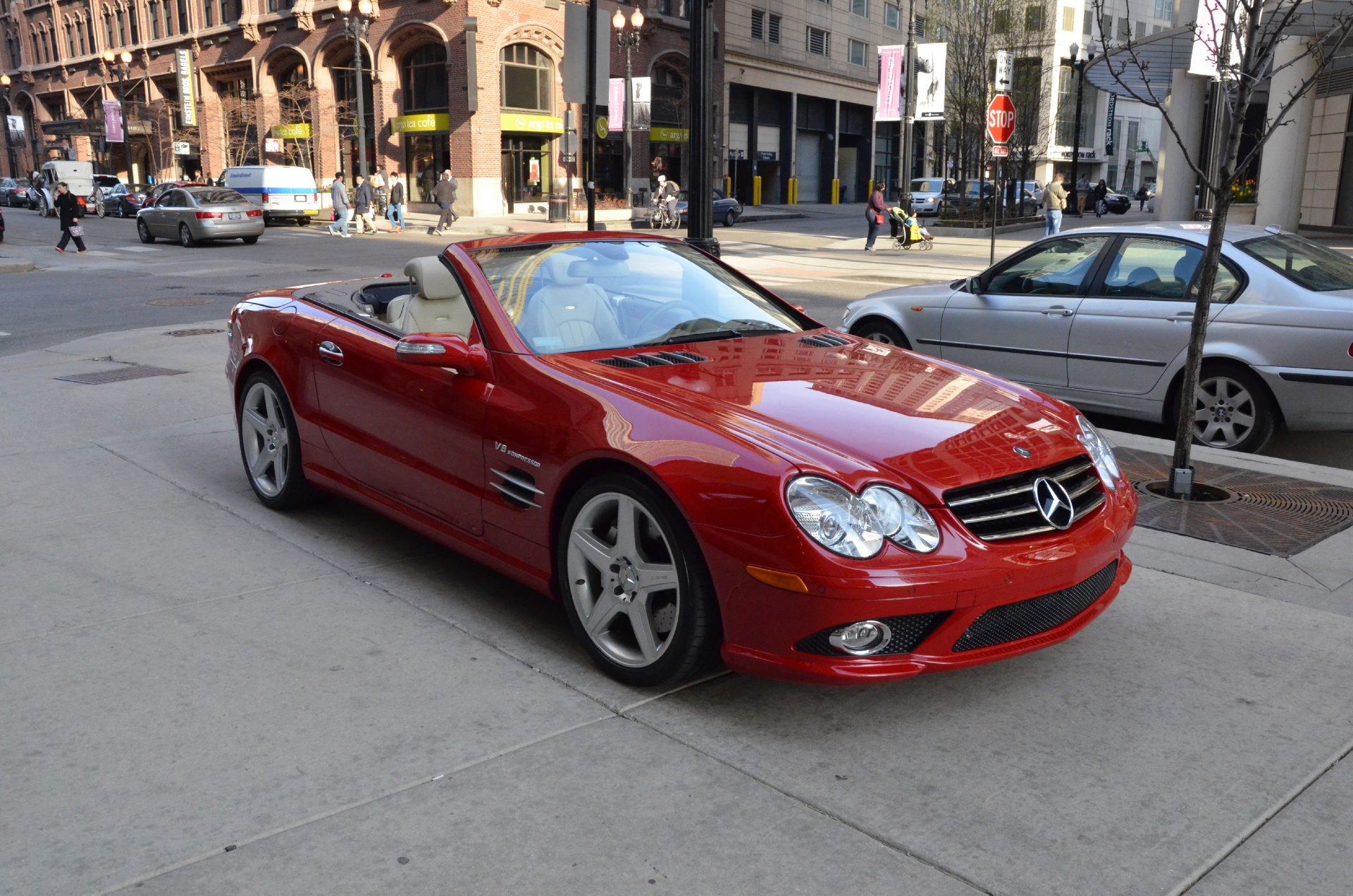 2008 mercedes benz sl class sl55 amg stock gc1299a for sale near chicago il il mercedes. Black Bedroom Furniture Sets. Home Design Ideas