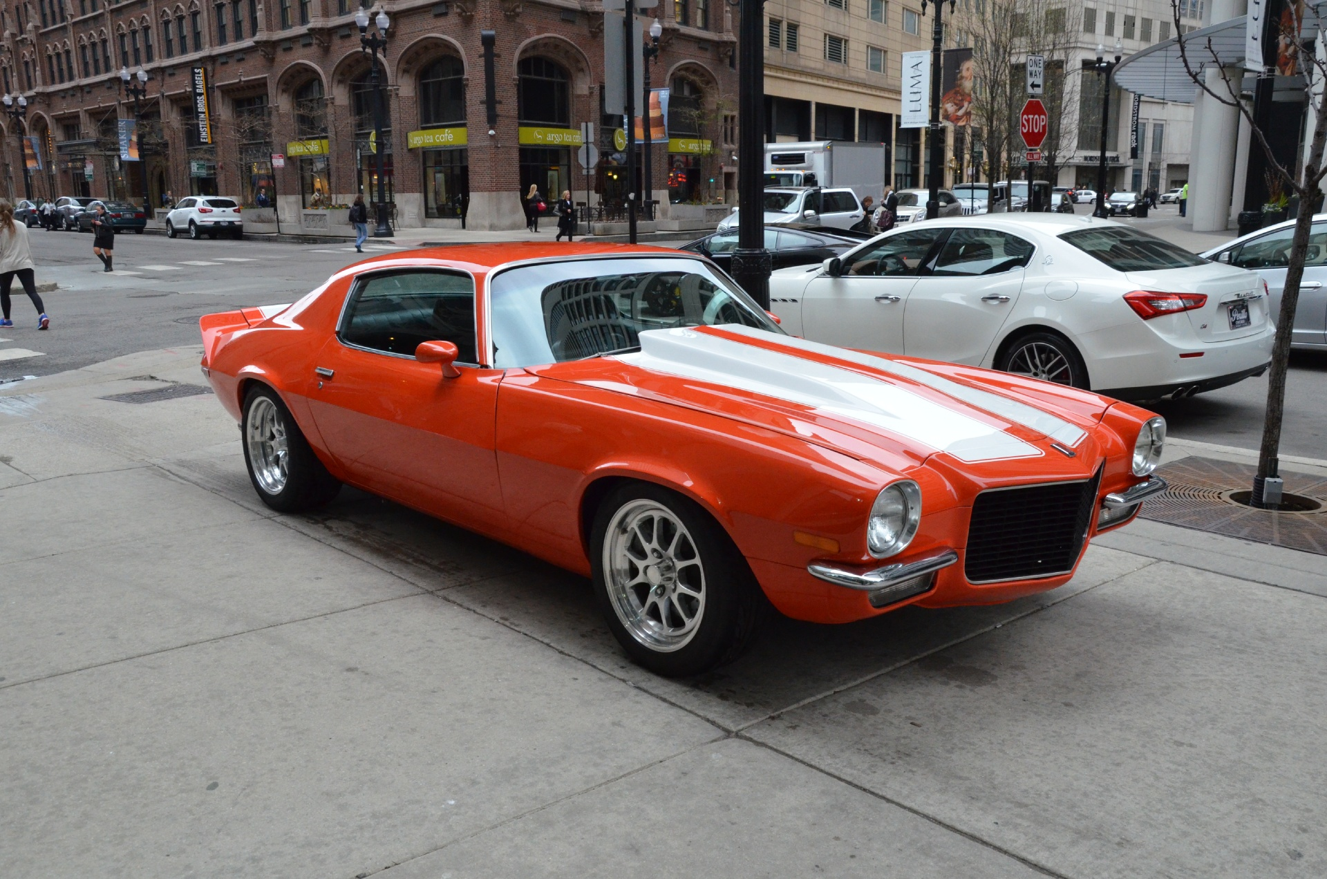 1973 chevrolet camaro stock b585ba for sale near chicago. Black Bedroom Furniture Sets. Home Design Ideas