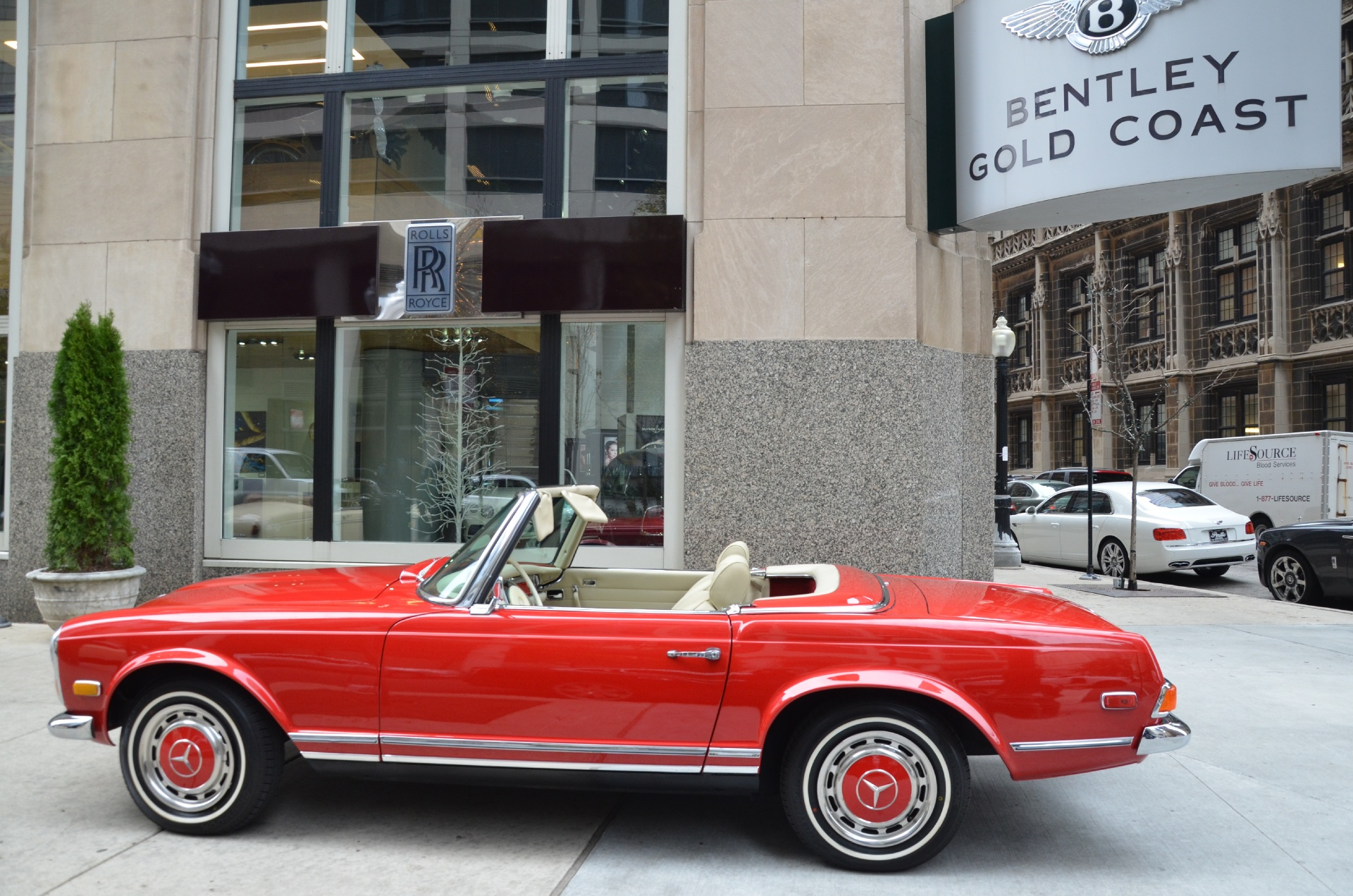 1970 mercedes benz 280sl convertible stock 13320 for for Chicagoland mercedes benz dealers