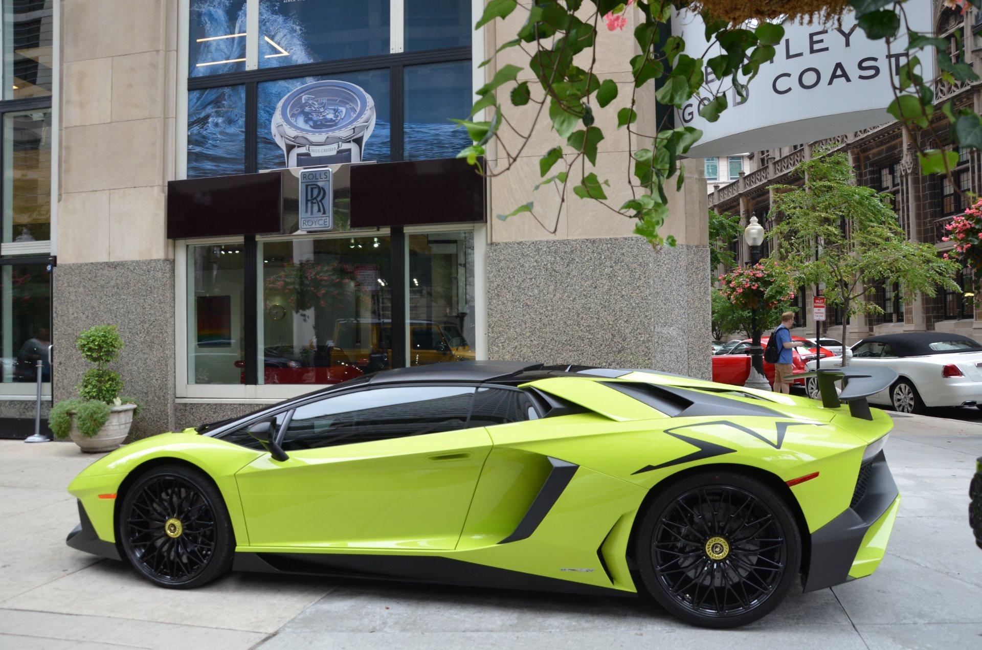 2016 Lamborghini Aventador Sv Roadster Lp 750 4 Sv Roadster Stock Gc Mir210 For Sale Near Chicago Il Il Lamborghini Dealer