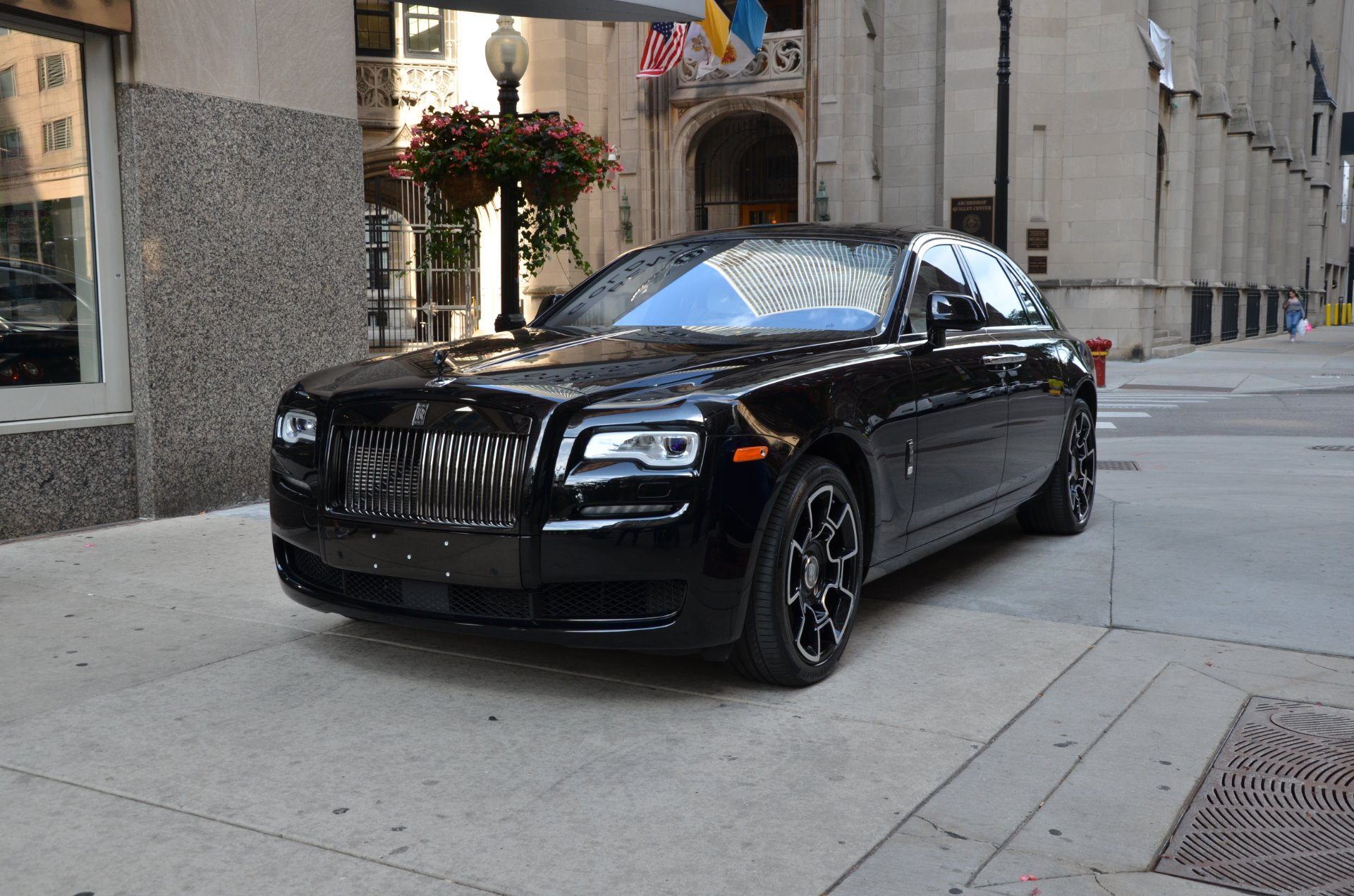 2017 rolls royce ghost black badge stock l406a for sale near chicago il il rolls royce dealer. Black Bedroom Furniture Sets. Home Design Ideas