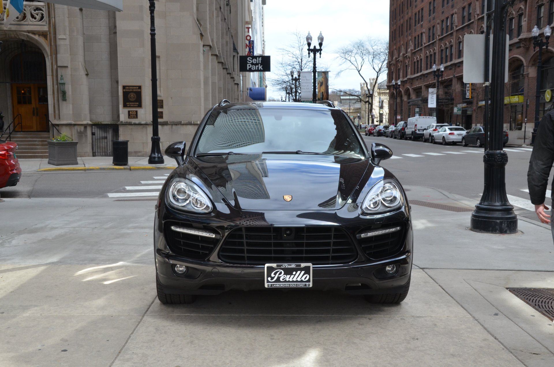 2014 porsche cayenne turbo stock b886a for sale near chicago il il porsche dealer. Black Bedroom Furniture Sets. Home Design Ideas