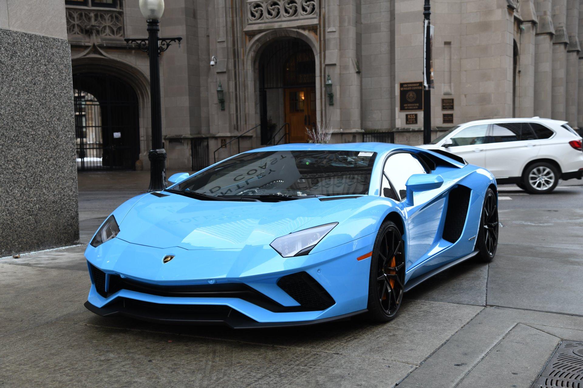 2018 lamborghini aventador blue. beautiful aventador new 2018 lamborghini aventador s lp 7404  chicago il inside lamborghini aventador blue