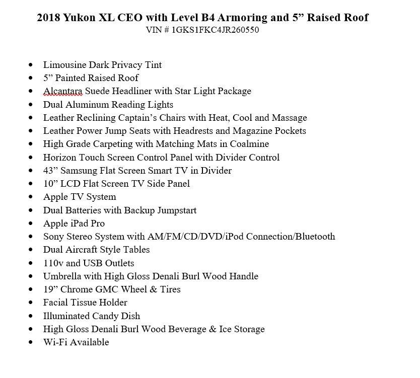 Used 2018 GMC Yukon XL Level B4 Armoring SLE 1500 | Chicago, IL