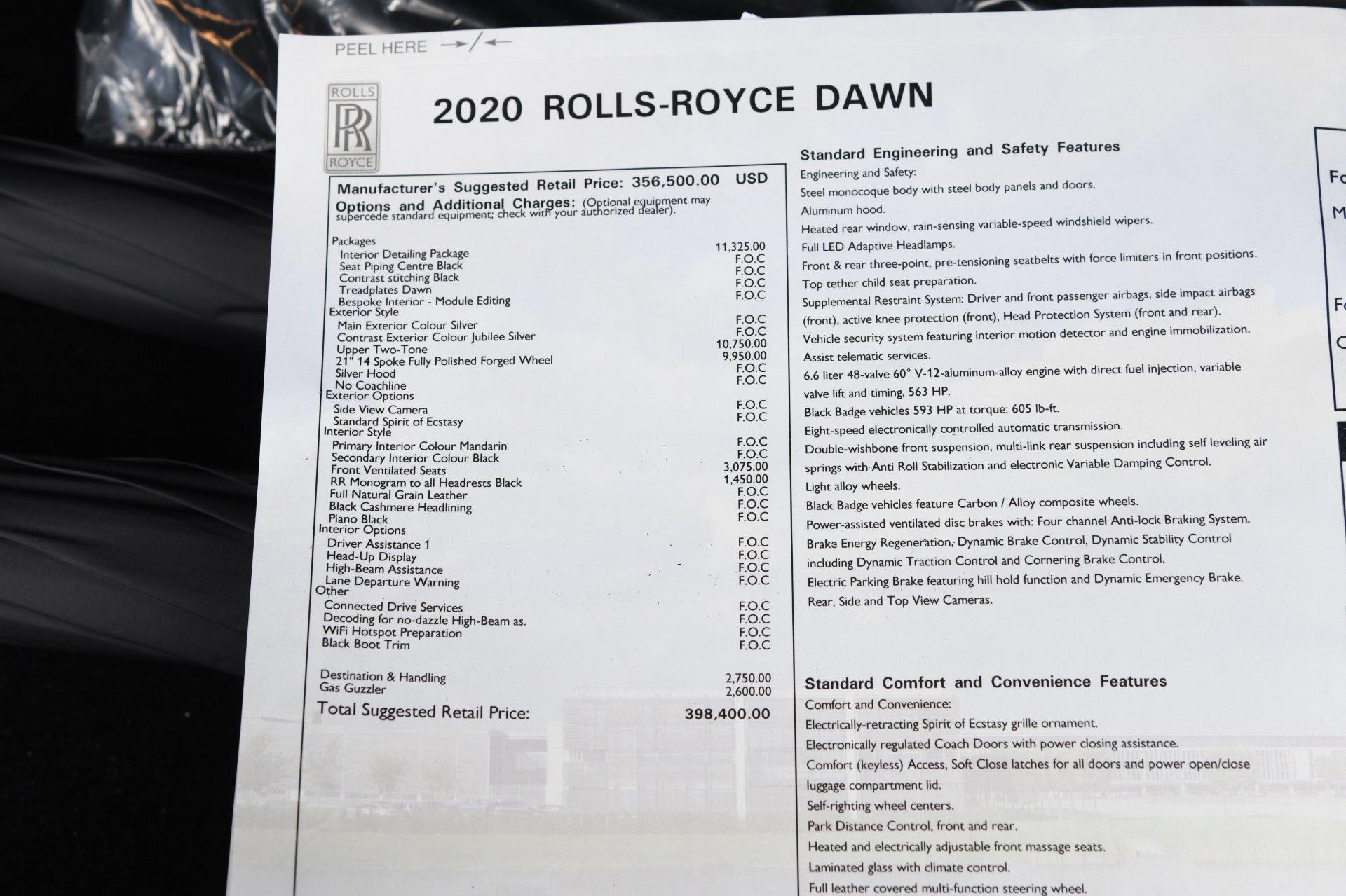 New 2020 Rolls-Royce Dawn    Chicago, IL