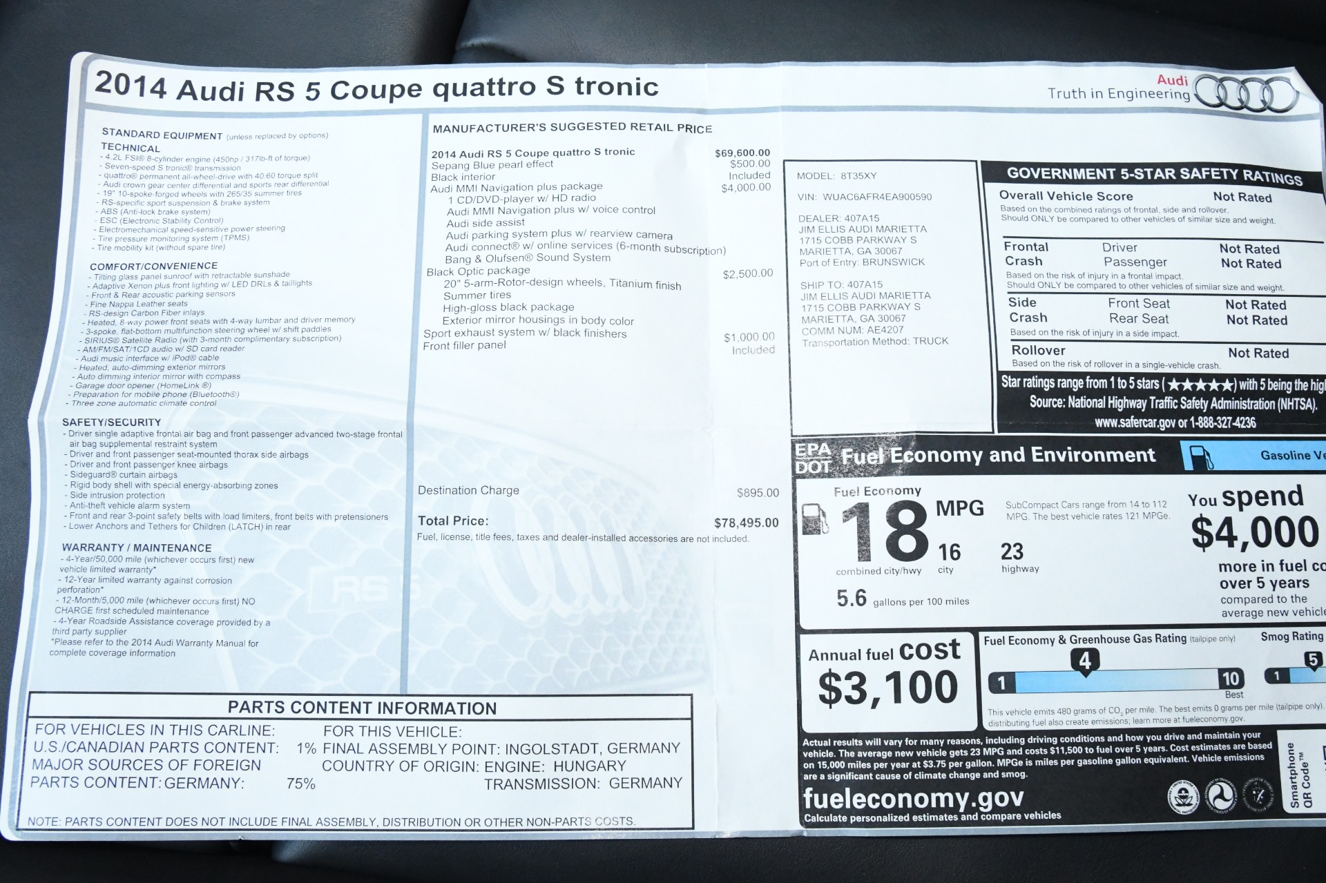 Used 2014 Audi RS 5 Quattro | Chicago, IL