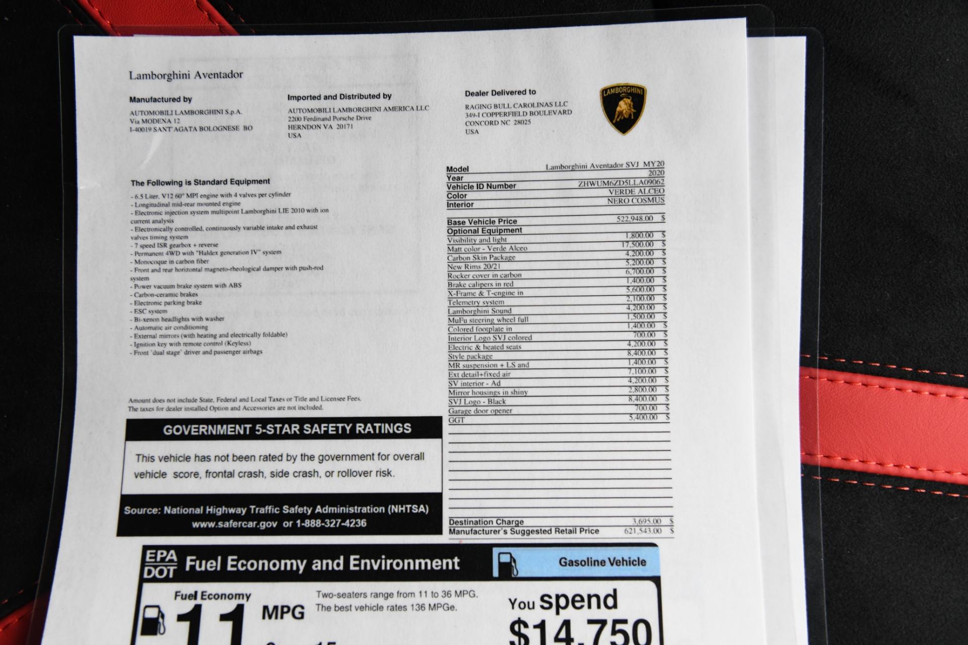 New 2020 Lamborghini Aventador SVJ LP 770-4 SVJ | Chicago, IL