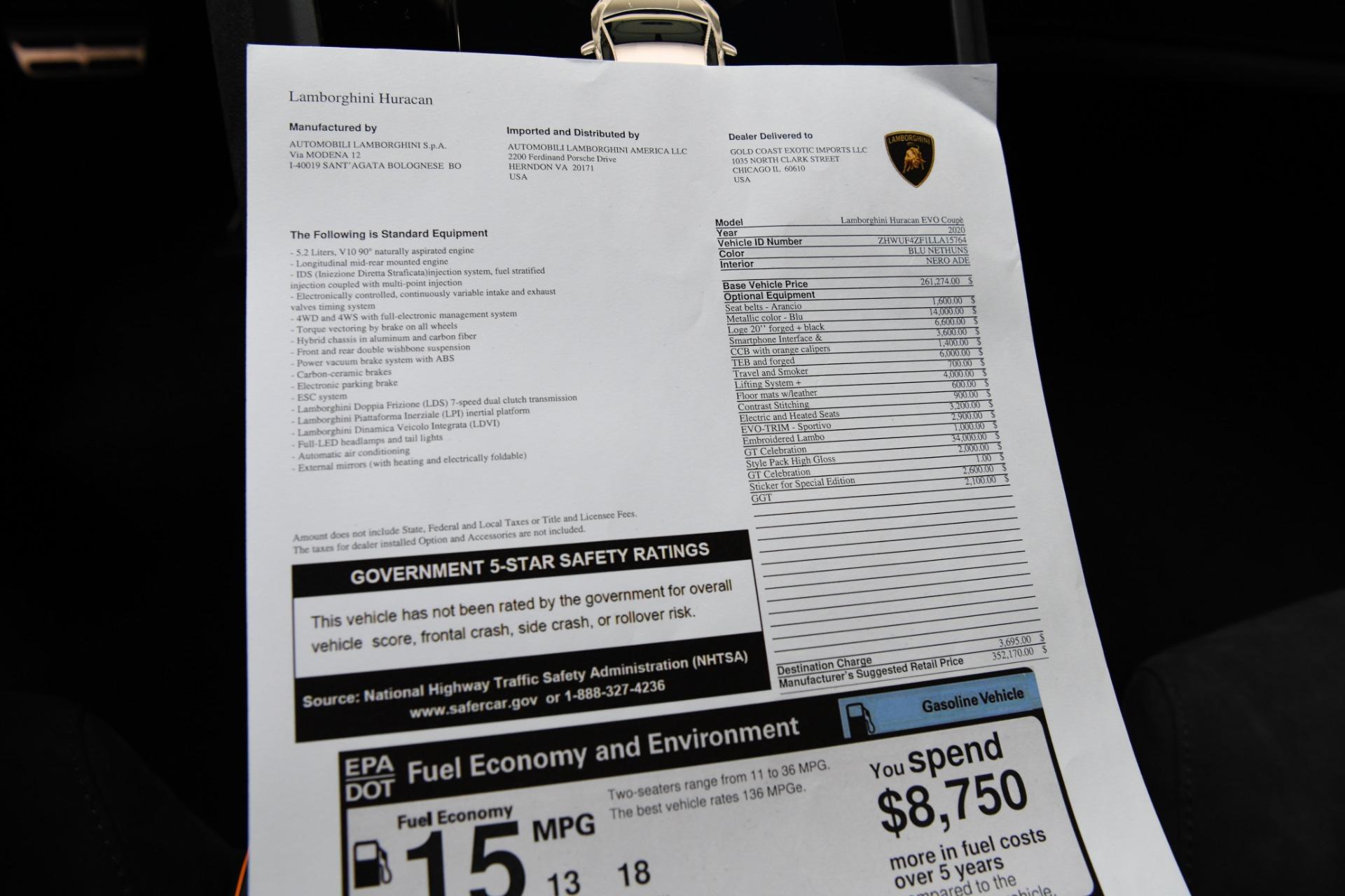 New 2020 Lamborghini Huracan LP 640-4 EVO | Chicago, IL